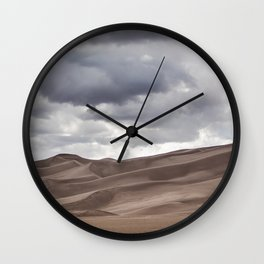 USA Colorado Great Sand Dunes National Park Desert Nature Parks Clouds park Wall Clock