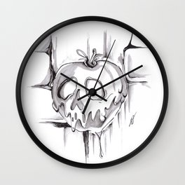 Poison Inktober Drawing Wall Clock