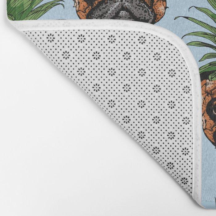 Pineapple Pug Bath Mat