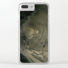 Ghostly depths of the ocean Clear iPhone Case