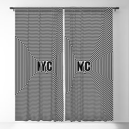 New York echo / Lined frame expanding from NYC text Blackout Curtain