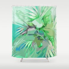 Palm Trees Abstract Shower Curtain