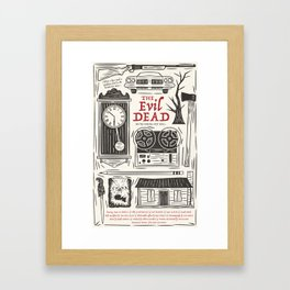 The Evil Dead Framed Art Print
