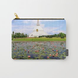 World Peace Pagoda with Lotus Flowers Carry-All Pouch