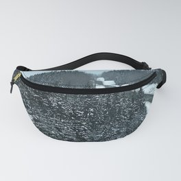 Winter Mountain Road Fanny Pack