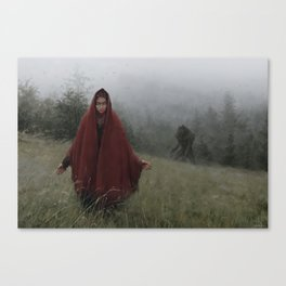 wolf bride Canvas Print