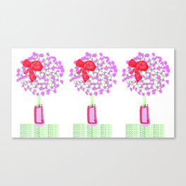 Flower Tree with Bow Canvas Print