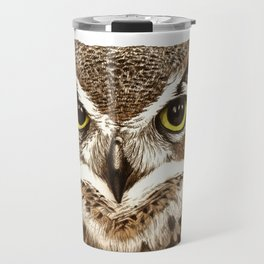 Great Horned Owl Travel Mug