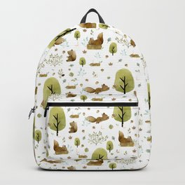 Squirrels in the forest Backpack