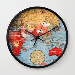 Map Of World War 2 Wall Clock
