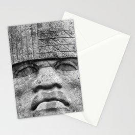 Olmec Man - Ancient Olmec Stone Statue Stationery Cards