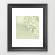 White Blooms Framed Art Print