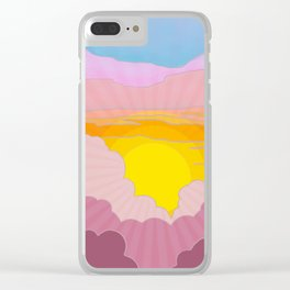 Sixties Inspired Psychedelic Sunrise Surprise Clear iPhone Case