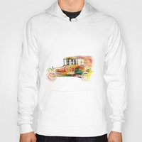 car Hoodies featuring  car  by mark ashkenazi