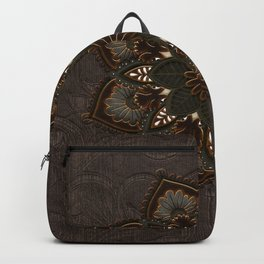 Steampunk, beautiful mandala Backpack