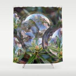 Flower bubbles Shower Curtain