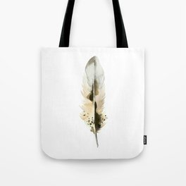 BROWN FEATHER Tote Bag
