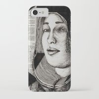 bianca green iPhone & iPod Cases featuring Bianca Davri by Anca Chelaru
