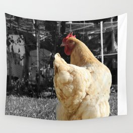 Another Dramatic Chicken Wall Tapestry