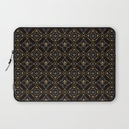 Fleur de Lis & Crown Pattern Laptop Sleeve