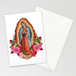 Our Lady of Guadalupe with roses Stationery Cards