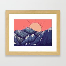 An early morning view Framed Art Print
