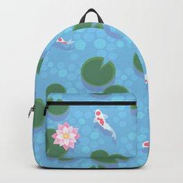 Japanese Neck Gator Koi Pond Lily Pad Japanese Pattern Backpack
