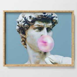 The Statue of David (Michelangelo) with Bubblegum Serving Tray