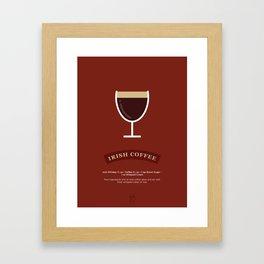 Irish Coffee Cocktail Recipe Art Print Framed Art Print