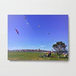 Kites at Bug Light Park in South Portland, Maine (1) Metal Print