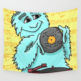 Jazz loving Yeti Wall Tapestry