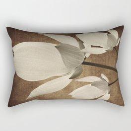 Vintage Flowers Digital Collage 10 Rectangular Pillow
