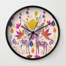 Fall in Love with Fawns Wall Clock