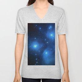 "The Pleiades (""The Seven Sisters"") (NASA/ESA/Palomar Observatory) Unisex V-Neck"