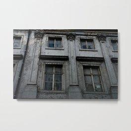 crackled Metal Print
