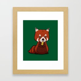Red Panda Lolly Framed Art Print