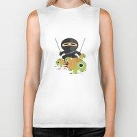 ninja turtles Biker Tanks featuring Ninja Turtles by Adamzworld