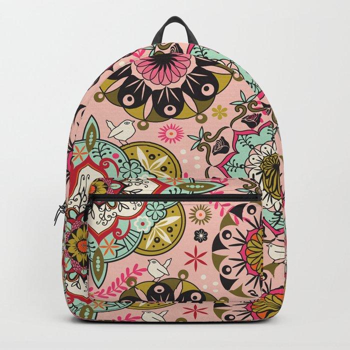 Mandala color pattern Backpack