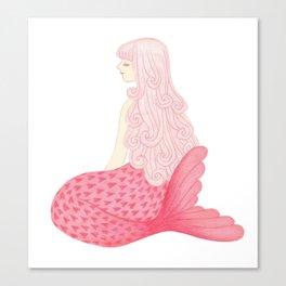 mermaid in love Canvas Print