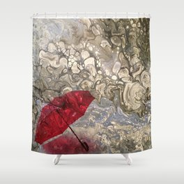 """Parapluie Perdu"" (The Lost Umbrella) by Laurie Ann Hunter Shower Curtain"