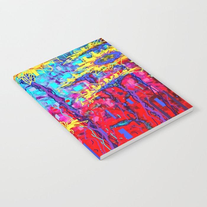 Sunflower Field  in Moonlight Abstract Notebook