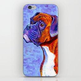 Colorful Brindle Boxer Dog iPhone Skin