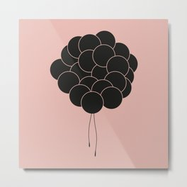 Blush Balloons Metal Print