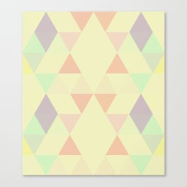 Triangles::SunFaded Canvas Print