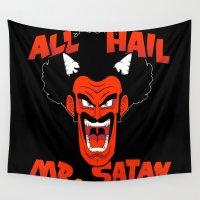 satan Wall Tapestries featuring All Hail Mr. Satan by thom2maro