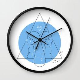 Gemini Sign Wall Clock