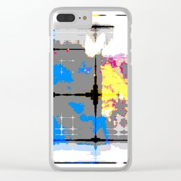 glitch abstract Clear iPhone Case