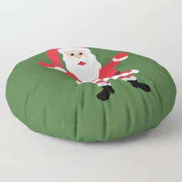 Christmas Santa Claus Says Welcome to You Floor Pillow