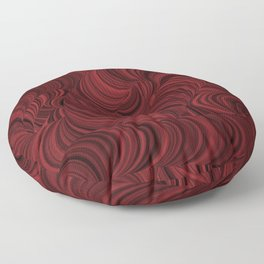 Dual color aesthetic trippy illusion loop tunnel graphic  Floor Pillow