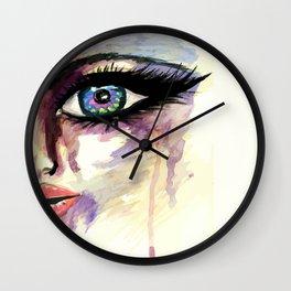 Grunge face part Wall Clock